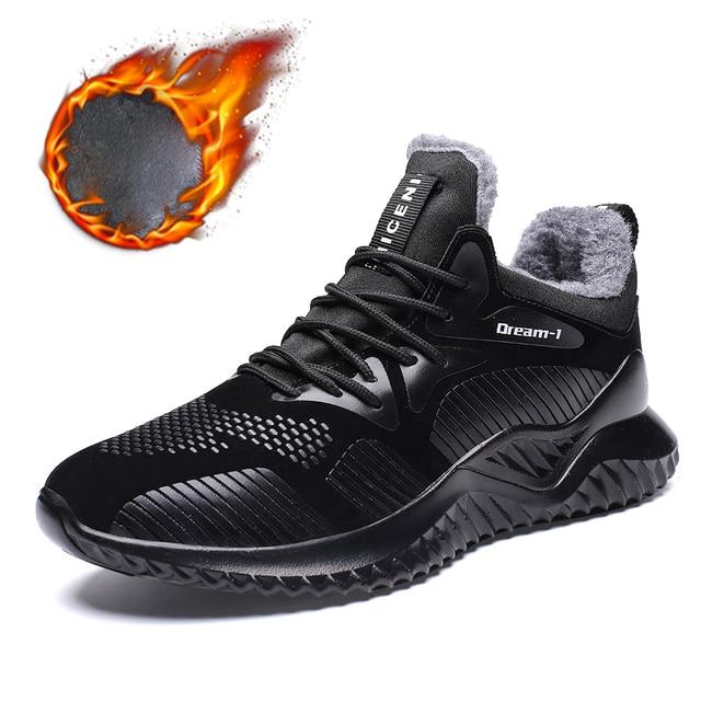 新しい男性靴の冬ぬいぐるみウォームアンクルブーツファッション耐摩耗性ラバーソールカジュアルブーツビッグサイズ 39 -46 男性スニーカー