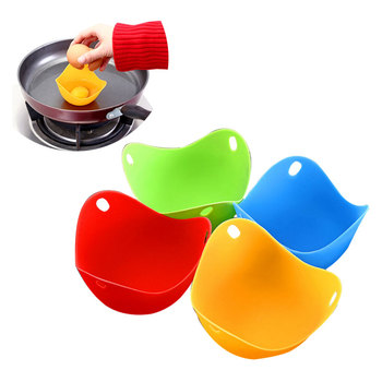 1/4Pcs/Set Steamed Bowl Multi-function Egg Box Silicone Egg Poacher Cookware Poached Baking Cup Kitchen Cookware Baking Mold 1