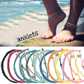 colourful summer design women girls thread anklet order pattern pack bracelet jewelry rope string friendship bracelet anklets