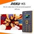 AEKU K5 Card Mobile Phone 5.5mm Ultra Thin Pocket Mini Slim Card Phone 0.96 inch  QWERTY Keyboard 2G GSM Card Child Cell Phone
