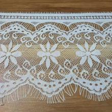 Very thin Sewing lace 14cm Width 3yards Fashion High Quality Handmade DIY Black Eyelash Lace Trimming,chantilly lace fabric кружево для шитья diy lace garden 7 14cm lt048 diy embroiered