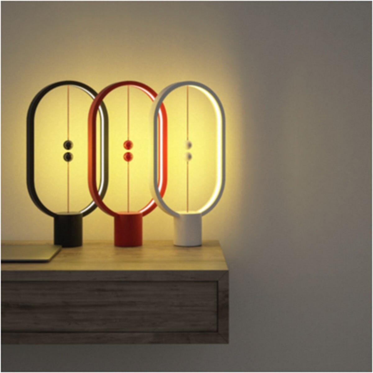 Créatif Heng Balance lampe Mini Intelligent magnétique demi-air Balance lumière LED veilleuse lampe de Table USB alimentation pour la maison