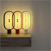 Creative Heng Balance Lamp Mini Intelligent Magnetic Half-air Balance Light LED Night Light Table Lamp USB Power Supply for Home