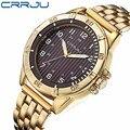 CRRJU 2016 Novos Relógios homens Esportes marca de luxo Assista homens relógios de pulso de quartzo Moda Casual assista relogio masculino