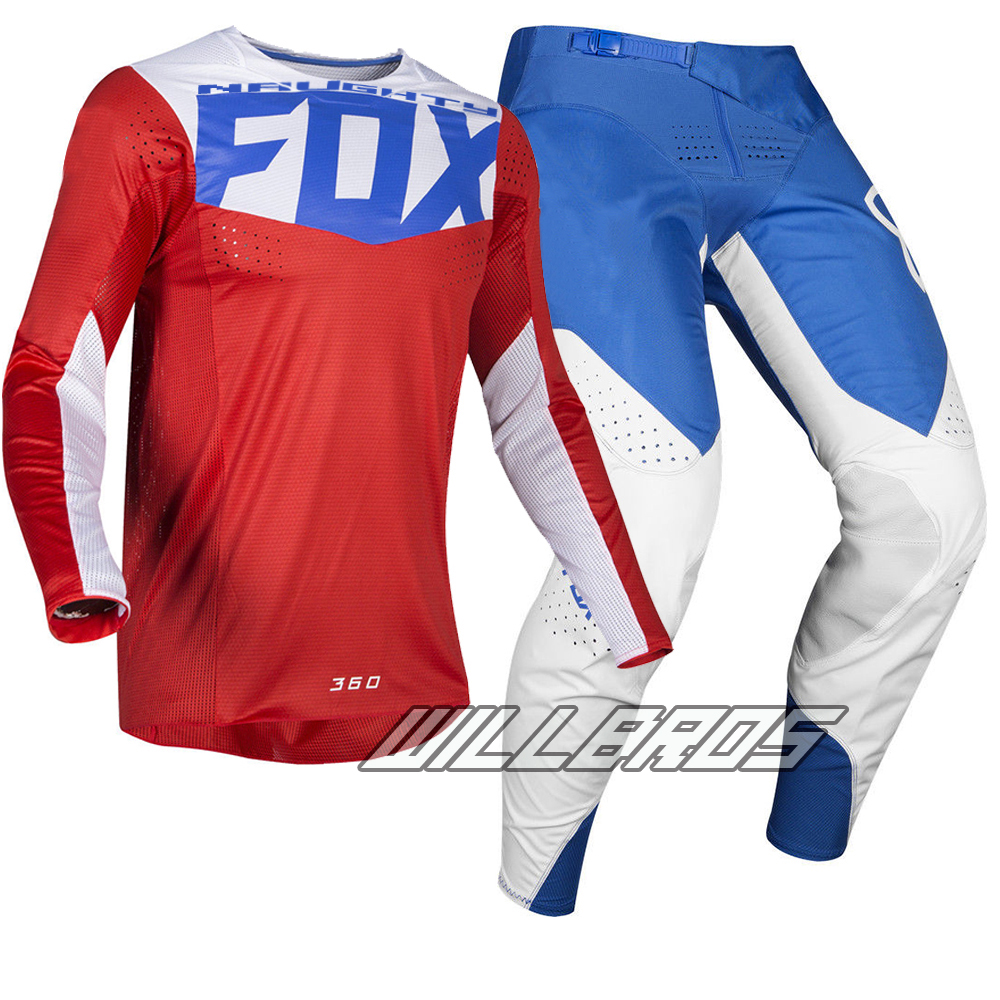 Livraison gratuite 2019 vilain Fox MX 360 Kila Jersey pantalon Motocross Dirt bike vtt adulte Racing noir Gear Set - 4