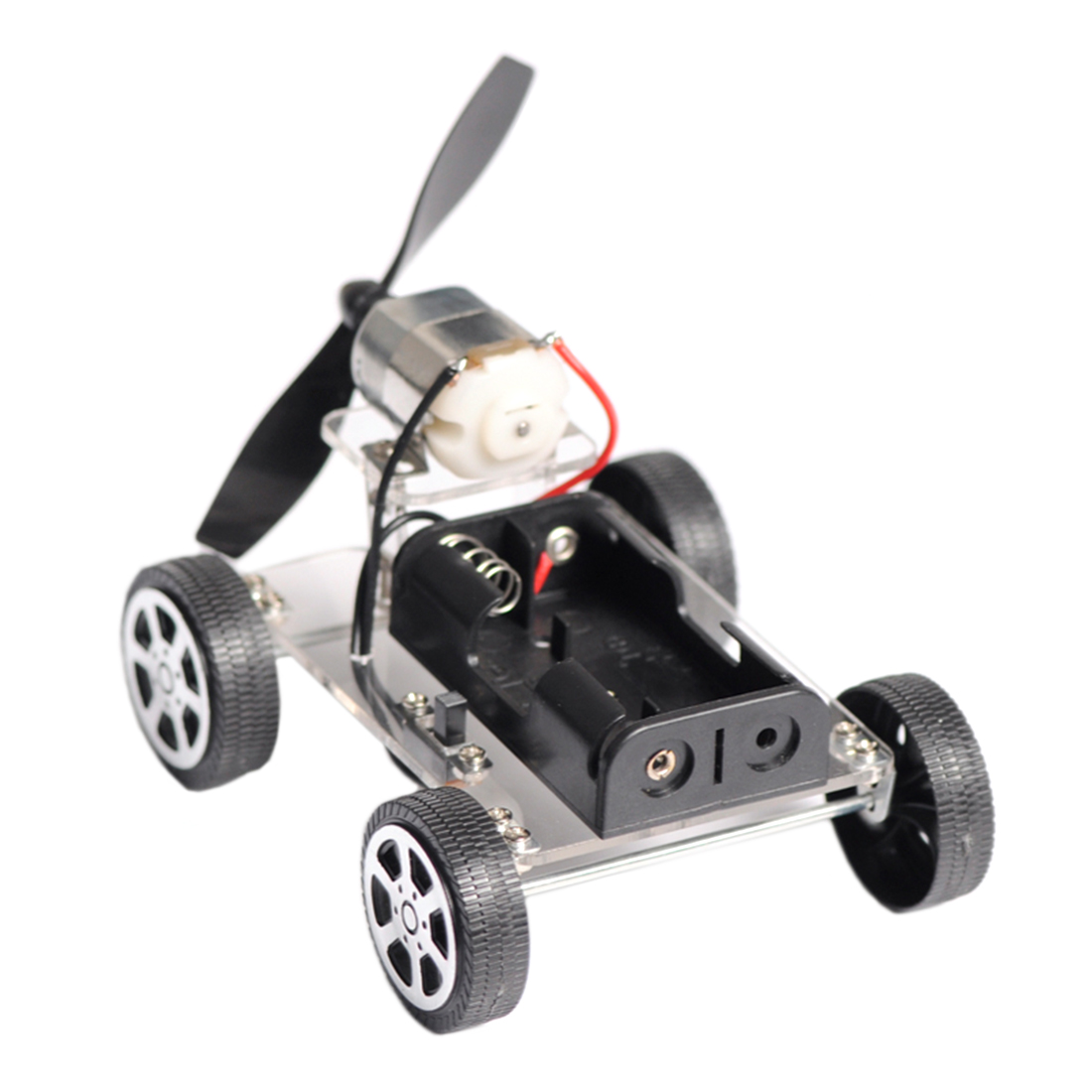 DIY Wind Trolley Wind Driving Force Car Model Science Experiment Toy Lab and Scientific Supplies for Student Class Learning Kits
