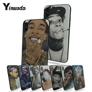 Yinuoda Wiz Khalifa Customized Pictures Soft Rubber Black Phone Case For Iphone X