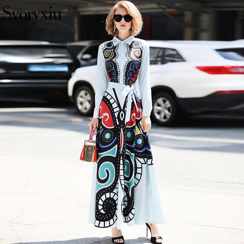 Svoryxiu Elegant Runway Maxi Long Dress Women