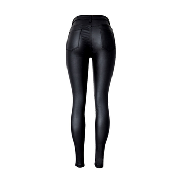 2019 Fashion Women Jeans,fitting High Waist slim Skinny woman Jeans,Faux leather jeans,stretch Female jeans,pencil pants C1075 1