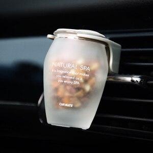 Image 5 - 石香水車のチューニングガラス空気出口香水ソリッドフレグランスクリア車の臭いラベンダー空気ベントエアコンアウト