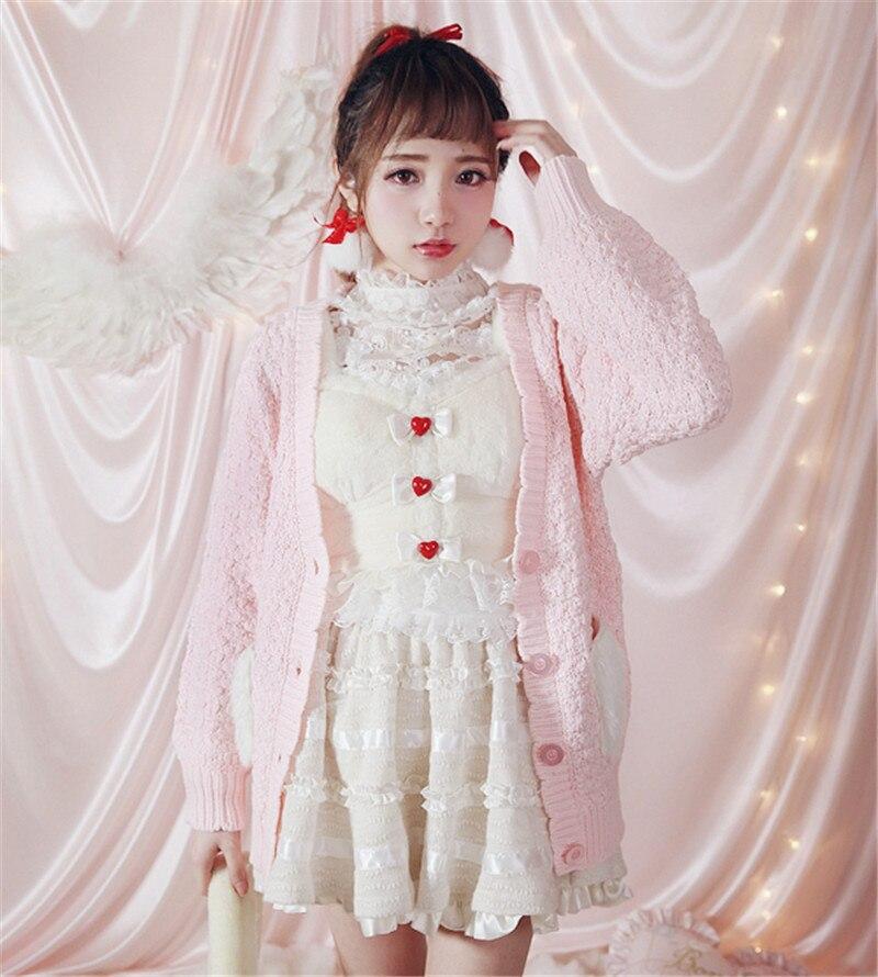 Princesse Keqi Du Cardigan T1325 Rose Ultra Printemps Lolita À Sweet Au Cheveux Poche Pétales Chandail T1325 Bobon21 Personnalisé De Début Tricoter Exclusif t1325 55qrzfx