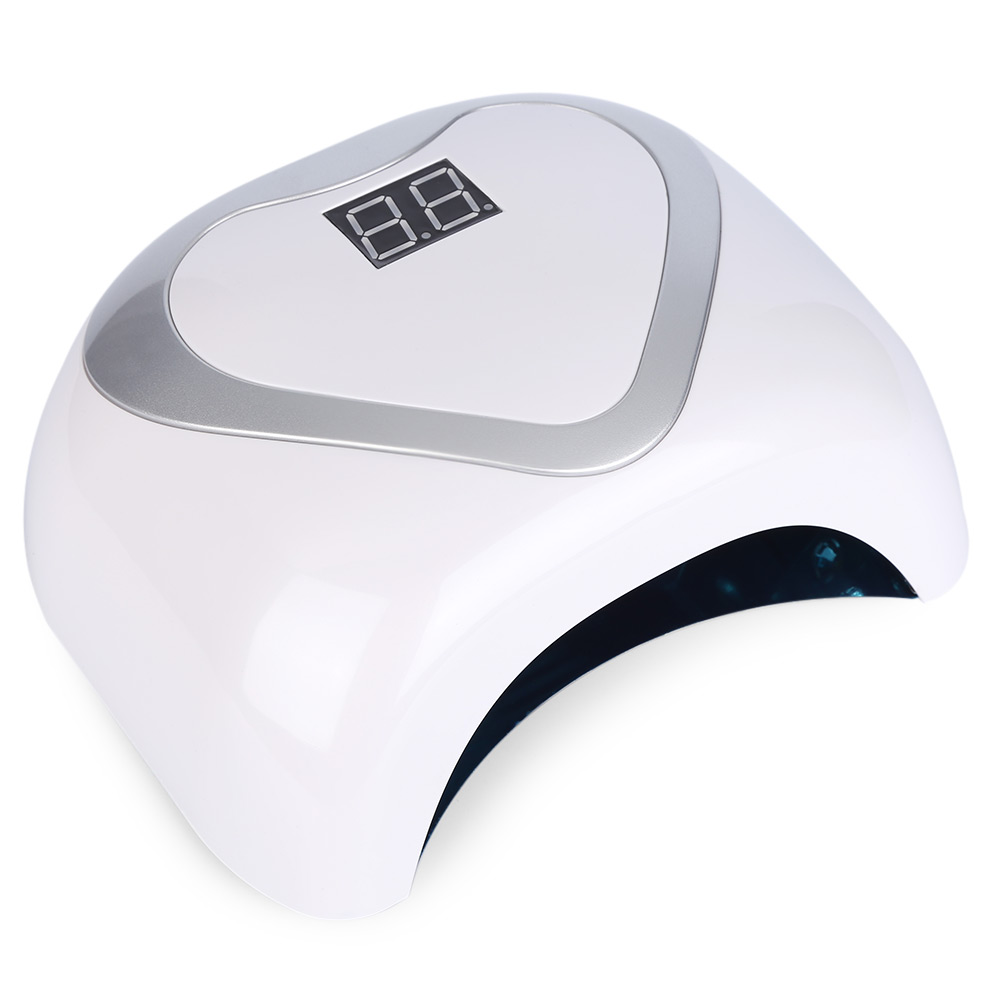 24/48W UV Lamp Nail Polish Dryer LED White Light Drying Fingernail Toenail Gel Curing Nail Art Dryer Manicure 24 48w uv lamp nail polish dryer led white drying gel curing dryer us plug