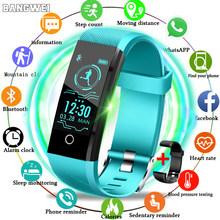 Bangwei 2019 Baru Smart Gelang Tracker Denyut Jantung Tekanan Darah Oksigen Kebugaran Wrisband IP68 Tahan Air Smart Watch Pria Wanita(China)