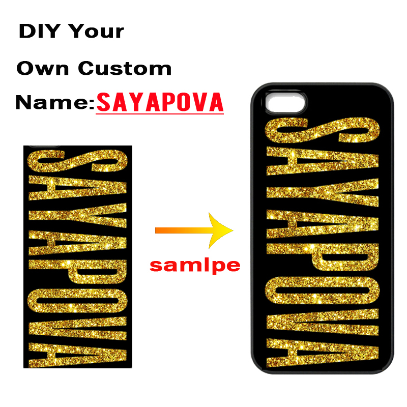 Custom Name Logo Cover Photo Case for iPhone 4 4S 5 5S 5C SE 6 6S 7 Plus Samsung Galaxy S3 S4 S5 Mini S6 S7 Edge Plus A3 A5 A7