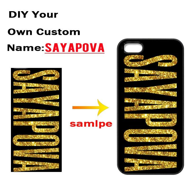 Custom Name Logo Cover Photo Case for iPhone 4 4S 5 5S 5C SE 6 6S 7 Plus Samsung Galaxy S3 S4 S5 Mini S6 S7 Edge Plus A3 A5 A7