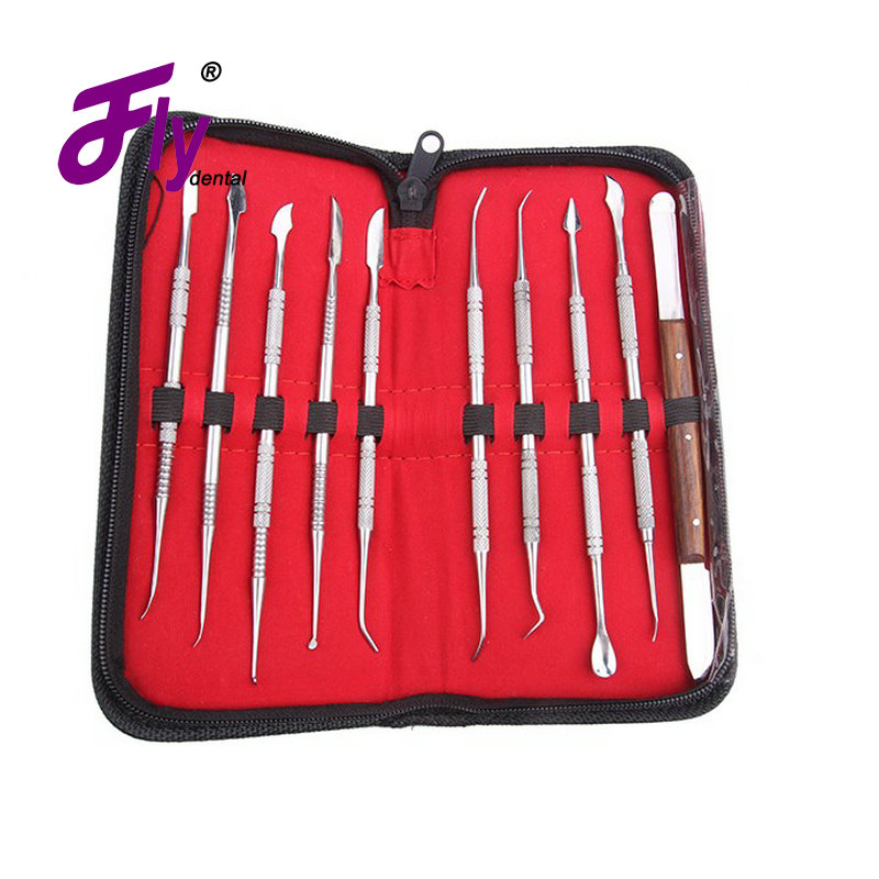 Dental Lab Equipment stainless steel tools dental tools Dental Kit Wax Carving Tool Set 3pcs set dental instrument dental x ray sensor positioner holder dental digital x ray film locator for dental lab free shipping