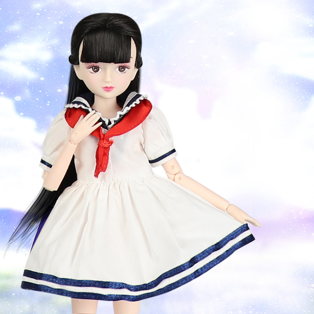 ICY Blyth doll New xiaojing doll student series joint body bjd black hair including school uniform shoes 25cm 2
