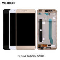 LCD Display For Asus Zenfone 3 Max ZC520TL X008D Glass Touch Screen Digitizer Assembly Black White Gold with Frame 5.2''