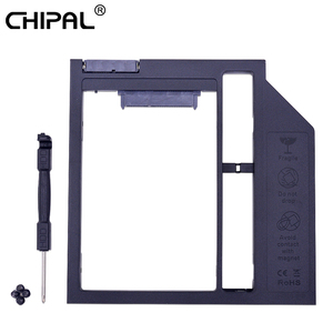 CHIPAL Plastic Optibay 2nd HDD Caddy 9.5mm SATA 3.0 Hard Disk Drive Box Enclosure 2.5 SSD Case DVD Adapter 2TB For Laptop CD-ROM