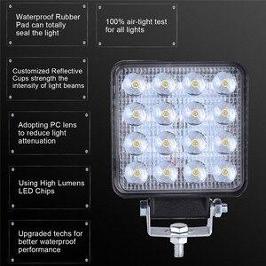 Image 3 - 2x LED مصابيح للسيارات LED ضوء العمل القرون 4 بوصة 160 واط مربع بقعة شعاع الطرق الوعرة عمود إنارة للقيادة Luces Led الفقرة السيارات