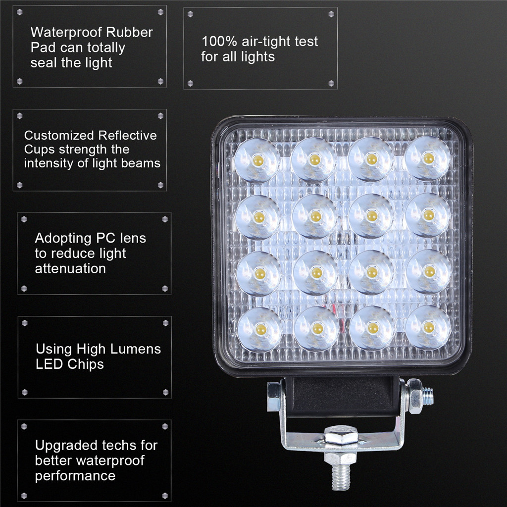 Image 3 - 2x LED Lamps For Cars LED Work Light Pods 4 Inch 160W Square Spot Beam Offroad Driving Light Bar Luces Led Para Auto-in Light Bar/Work Light from Automobiles & Motorcycles
