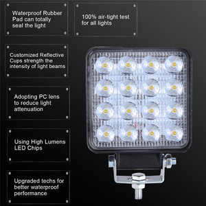 Image 3 - 2x LED Lamps For Cars LED Work Light Pods 4 Inch 160W Square Spot Beam Offroad Driving Light Bar Luces Led Para Auto