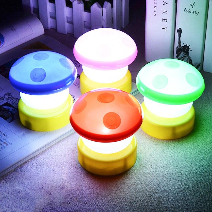 Jiaderui Красочные гриб Новинка светодиодный сенсорный Лампы для мотоциклов ночник для детей Детские Спальня украсить дом Свадебная вечеринка...