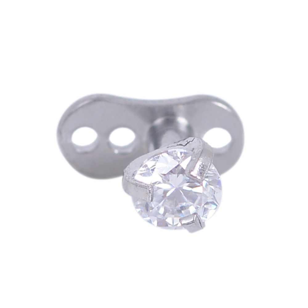 Pria dan Wanita Kecil Stainless Steel Tulang Kuku Hypoallergenic Tusukan Kulit Kuku Piercing Tubuh Perhiasan 1 Piece