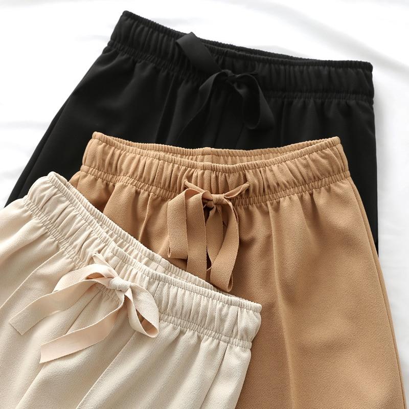 2020 Fashion Summer Wide Leg Pants Women High Waist Plaid Striped Loose Palazzo Pants Elegant Office Ladies Plus Size Trousers