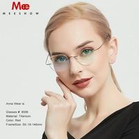 Titanium glasses frame Rimless women's glasses round eyeglasses Men myopia optical prescription glasses korea spectacle frame