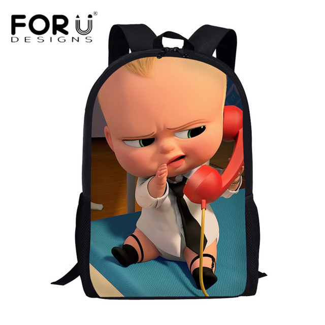 FORUDESIGNS Cute Boss Baby 3D Cartoon School Bags Teenage Girls Boys Casual  Book Bag Rucksack Children Laptop Backpack Daypack da720815c3f82