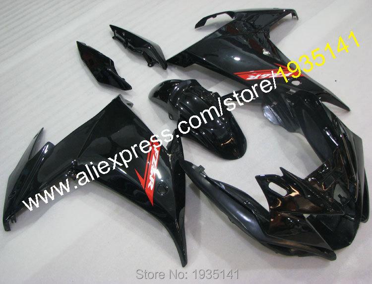 Горячие продаж,Обтекателя для YAMAHA FZ6 FZ6R 2009 2010 2011 2013 частей ABS 6р 6 ФЗ-ФЗ 6р черный мотоцикл послепродажного обтекатель комплект