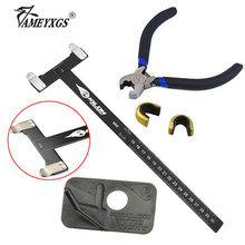 1set Archery T Square Ruler Copper Buckle Pliers Kit And Right Hand Plastic Arrow Rest Recurve Bow Hunting Shooting Accessories