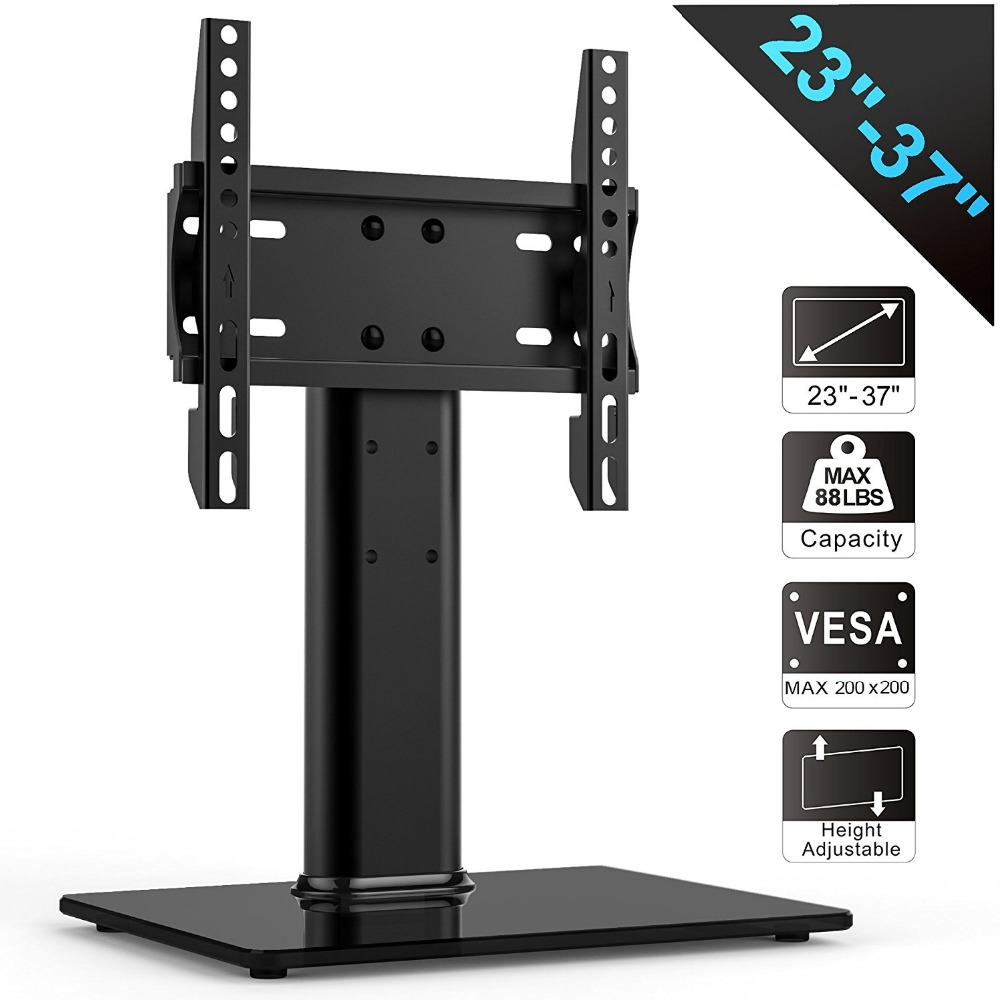 FITUEYES Universal TV Stand /Base Tabletop TV Stand with mount for 27-37 inch Sony Panasonic LG LED LCD Vizio Toshiba fitueyes universal swivel tv stand base with mount height adjustable for 26 to 55 tv tt106001mb