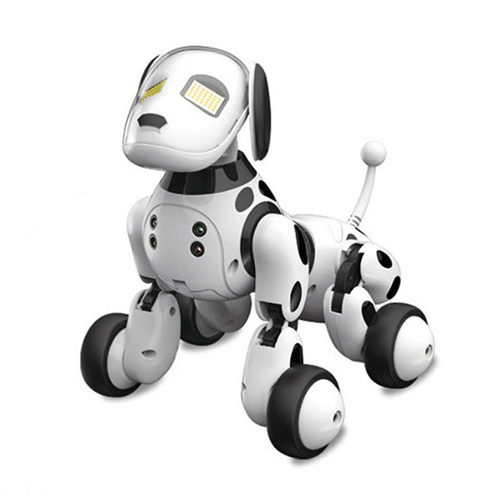 DIMEI 9007A 2.4G Wireless Remote Control Smart Robot Dog Kids Toy Intelligent Talking Robot Dog Toy Electronic Pet Birthday Gift hot sale short plush chew squeaky pet dog toy