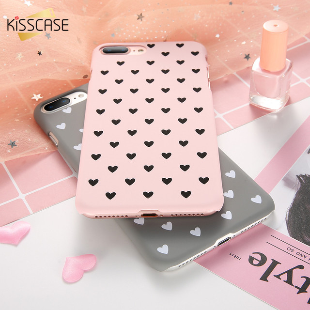 Cute Pink Couple Love Heart Black Case For iPhone 6 6S plus Case For iPhone 7 8 plus X 10 iPhone 5S SE 5