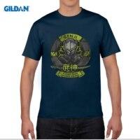 GILDAN Men Short Sleeve T Shirt NEW OW GENJI Men T Shirt Game Style Summer Cotton