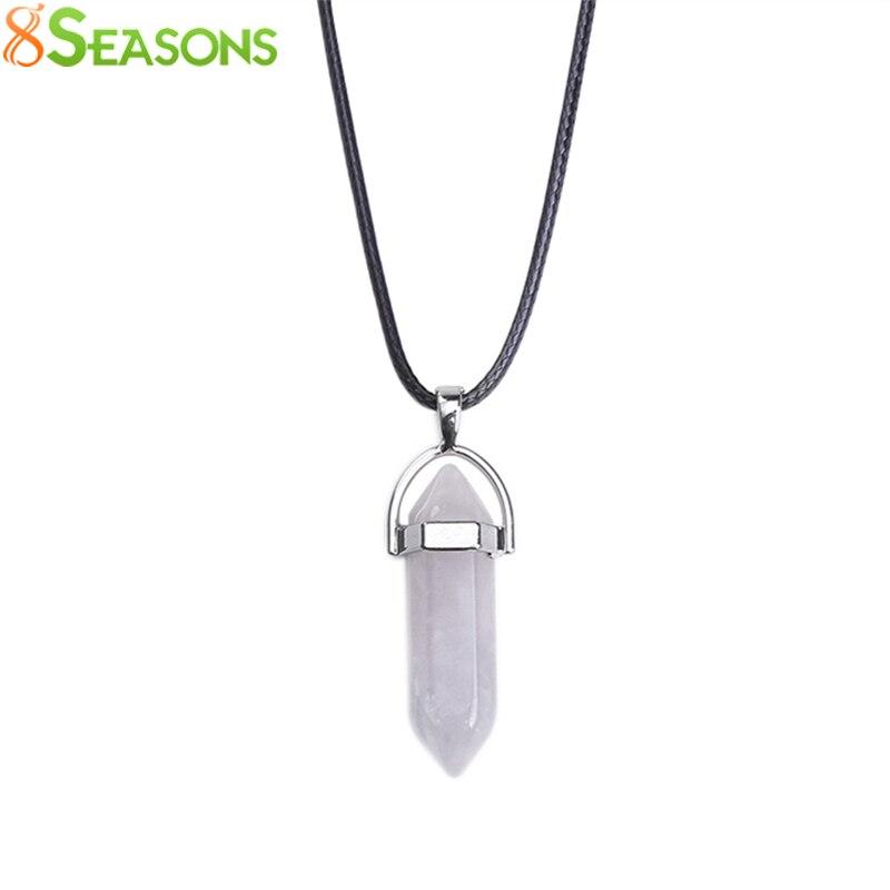 8SEASONS Fashion Jewelry Created Crystal Multi Color Quartz Chakra Pendants..