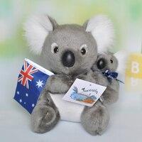 about 21cm cartoon koala plush toy mother&baby soft doll birthday gift b0380