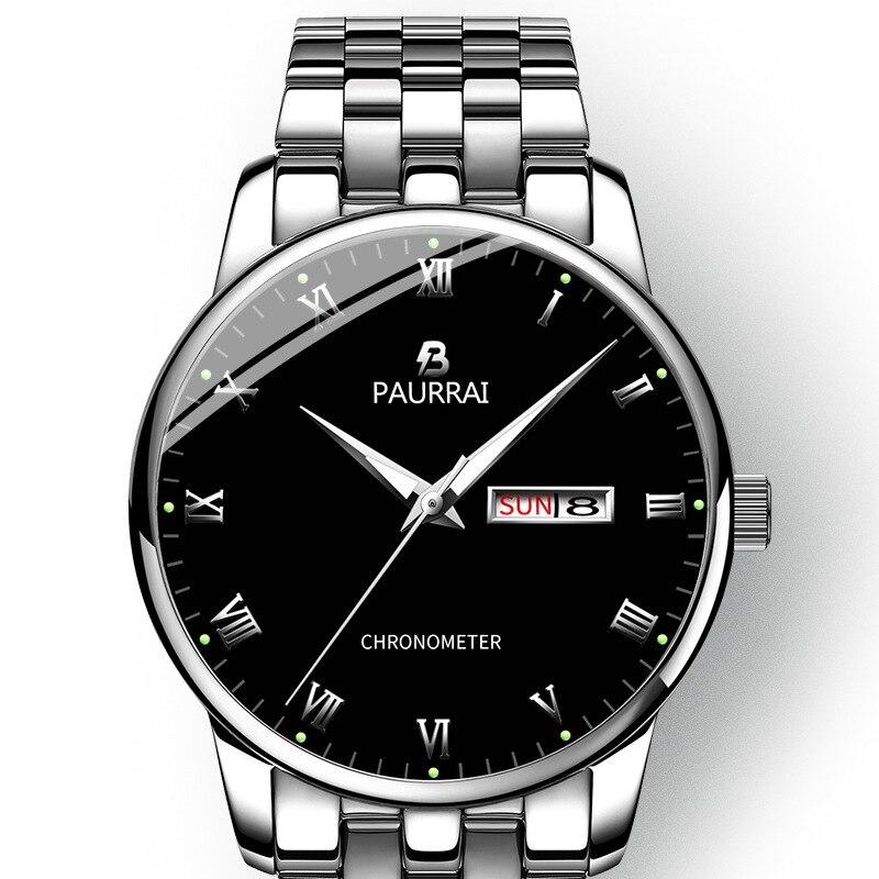 2019 New Watches Men Luxury Brand Luminous Men Sports Watches Waterproof Full Steel Quartz Men s