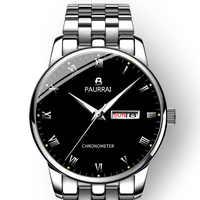 2019 新しい腕時計メンズ高級ブランド発光男性スポーツ腕時計防水フル鋼クォーツメンズ腕時計レロジオ Masculino