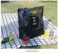 2016 borsa a tracolla Portatile sacchetto di immagazzinaggio di corsa isolamento borsa pic-nic sacchetto maschio femmina sport mesh organizer pacchetto di ammissione
