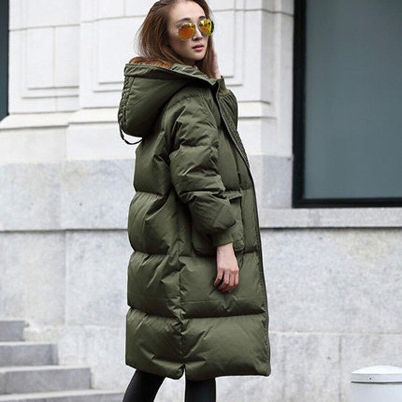 Lâche X Na342 Coréen 2017 Mujer Vers long Canard Femmes Capuche Doudoune À Parkas Stylw Bas Manteau Hijklnl Hiver Le Green army Noir Marée 8wzqqH