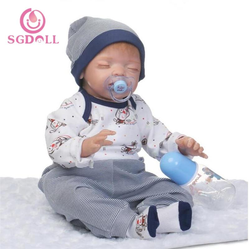 [SGDOLL] 2017 New22 Soft Body Silicone Reborn Sleeping Doll Soft Vinyl Lifelike Newborn Baby Boy  17032442 велосипед forward cyclone 2 0 2015