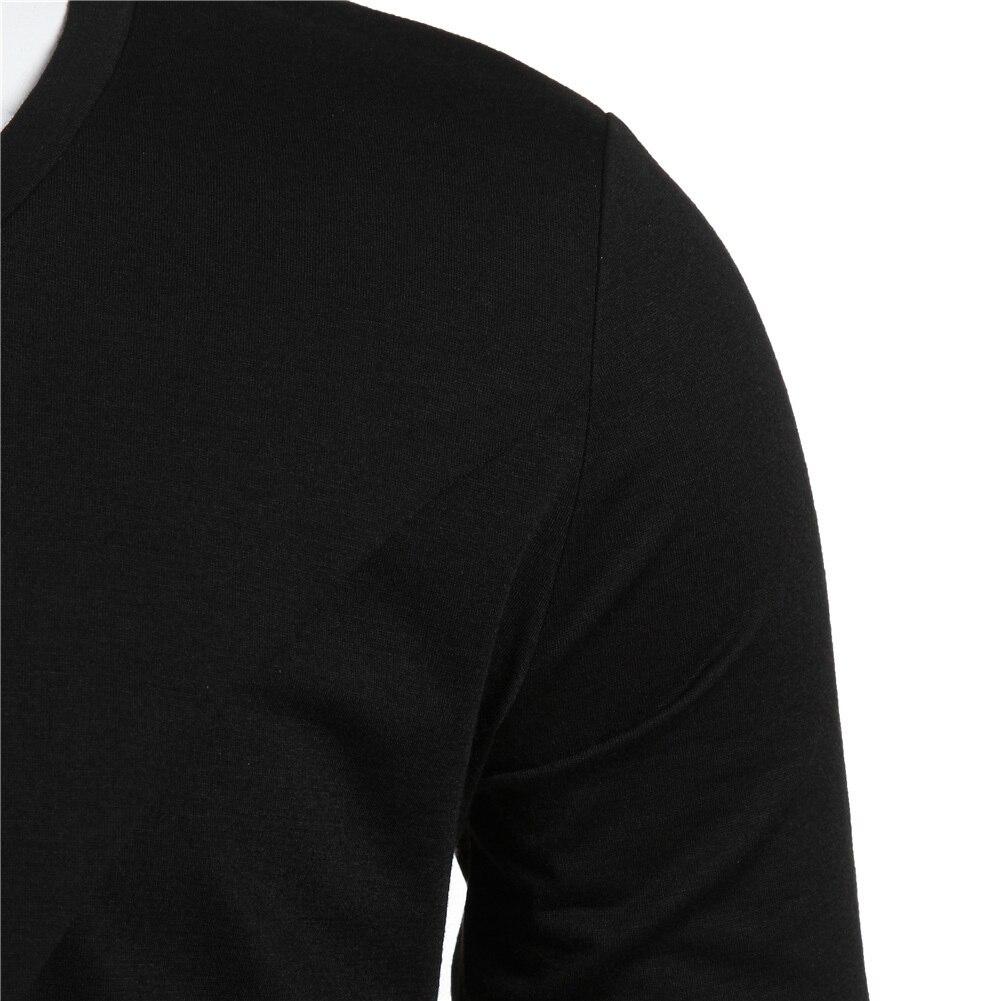 Moomphya 2018 Men Super Stylish Cross Layered Swallow Tail Long Tee Men long sleeve t-shirt Longline hem tshirt streetwear 4