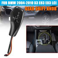Car LED Gear Shifts Knob Shifter Lever For BMW 2004 2010 X3 E83 E83 LCI LHD Automatic Gear Head
