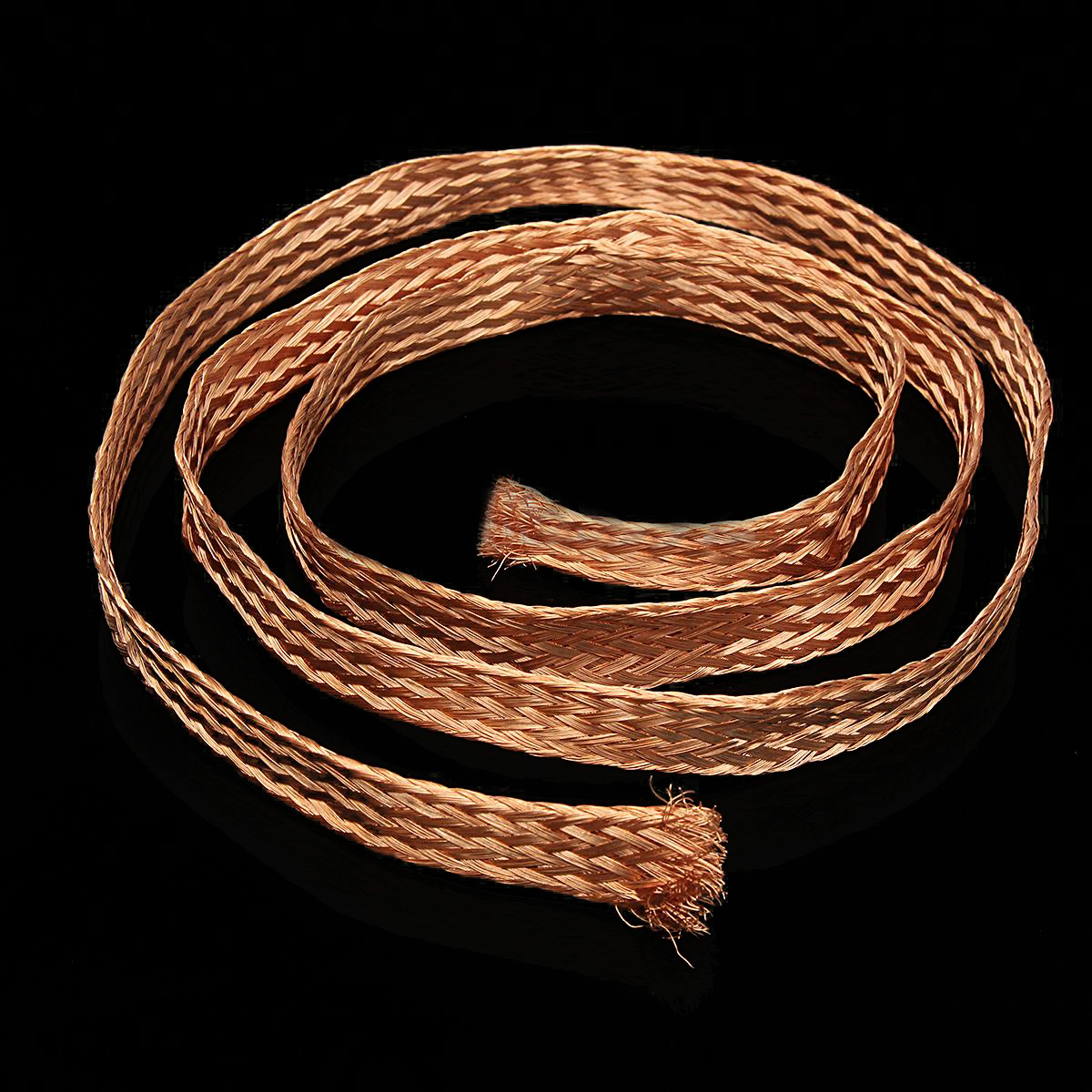 1m 3.3ft 15mm Flat Pure Copper Braid Mayitr High Flexibility Cable Bare Copper Braid Wire Ground Lead  1m 15mm flat tinned copper braid sleeve screening tubular cable diy