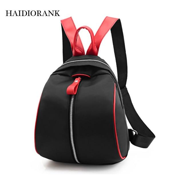 Women s Backpack 2018 Fashion Casual School Little Backpacks For Teenage  Girls Nylon Bag Waterproof Small BagPack Mini Backpack ca7451b516c46