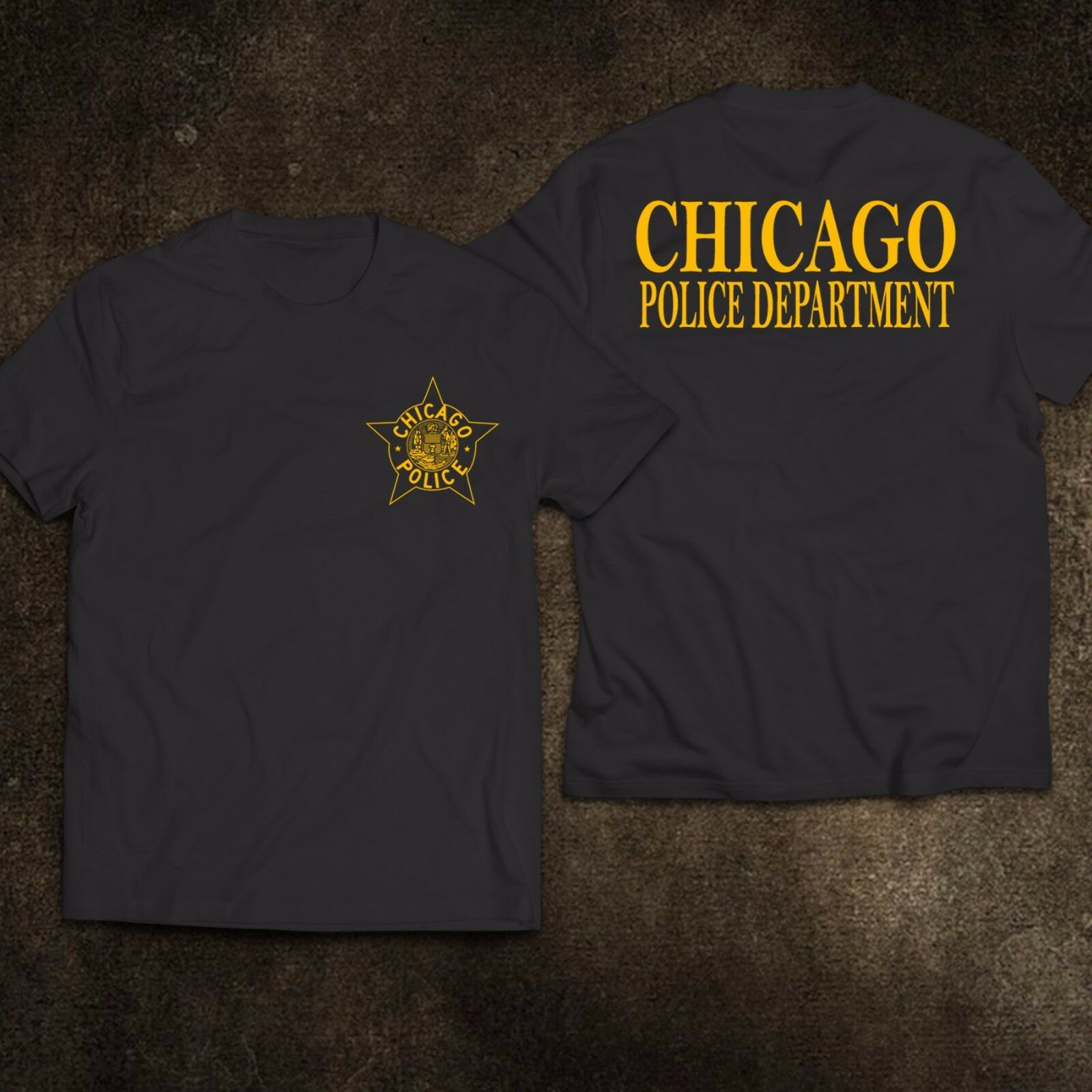 2019 Funny New Chicago Police Department United States Tee T-Shirt S-3Xl Double Side Unisex Tee