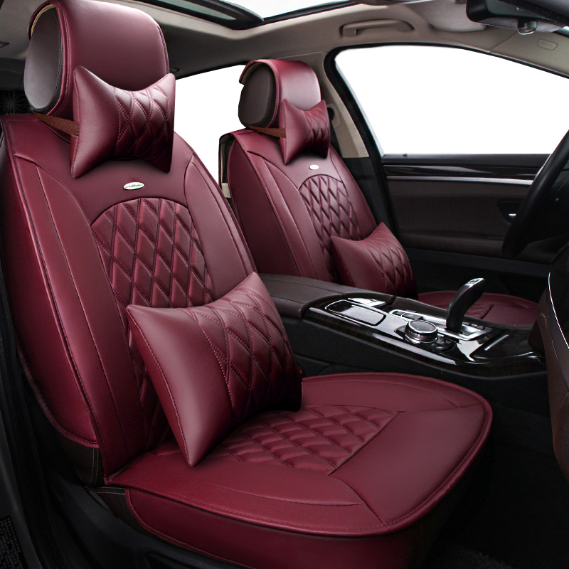 New Pu leather Auto Car Seat Covers Universal Automotive car seat cover for toyota RAV4 C-HR 2013-2018 accessories Car-Styling universal pu leather car seat covers for lifan x60 x50 320 330 520 620 630 720 car accessories auto styling 3d car sticks
